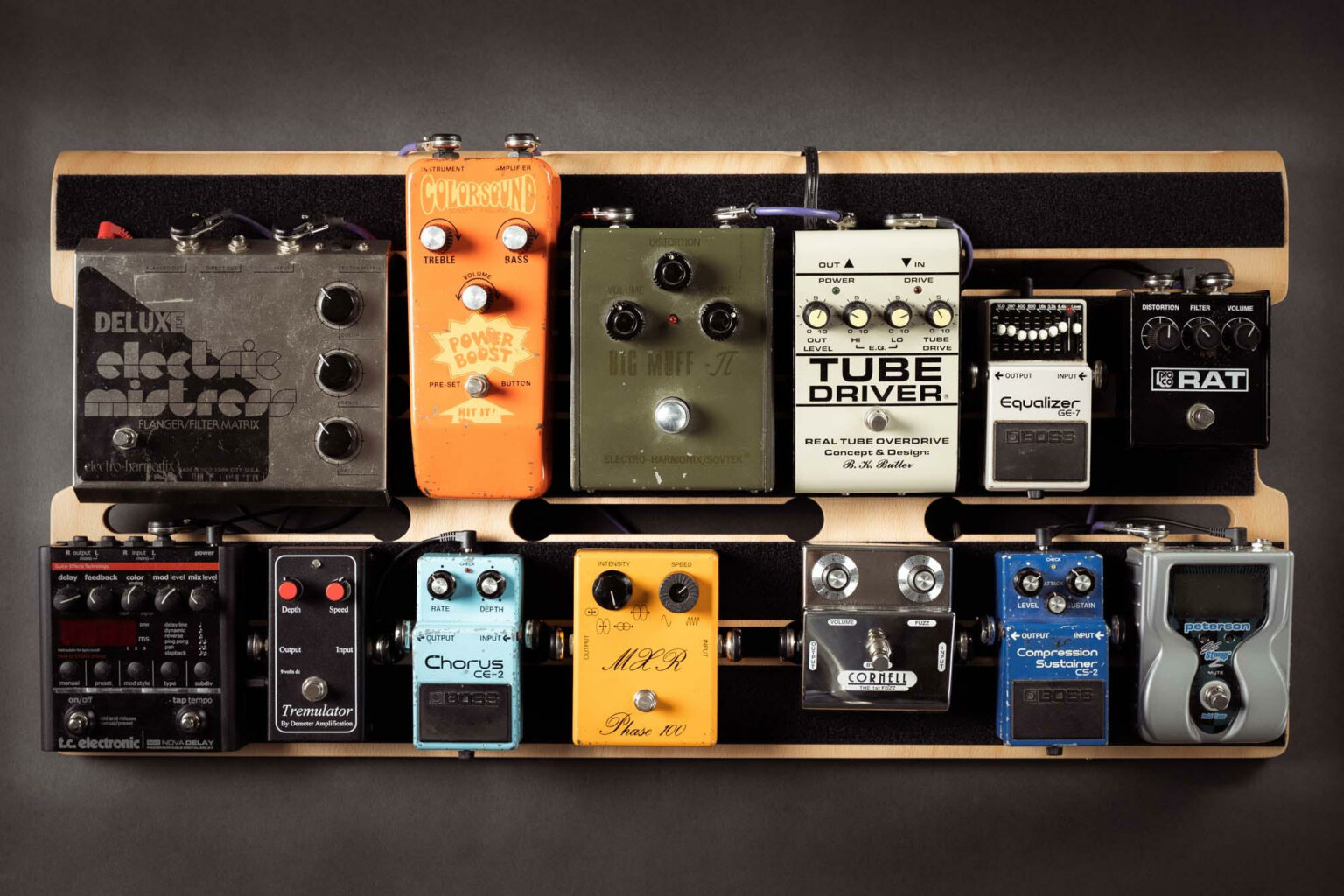 pedalboard complet electric wood company